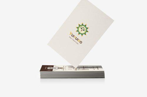 京都の少数民族雑貨店「旅する雑貨屋ゆいゆい堂」ショップカード デザイン